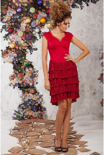 Платье Art Ribbon M1033-red