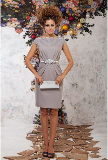 Платье Art Ribbon M1034-grey