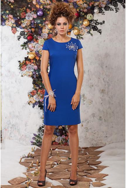 Платье Art Ribbon M1063-blue