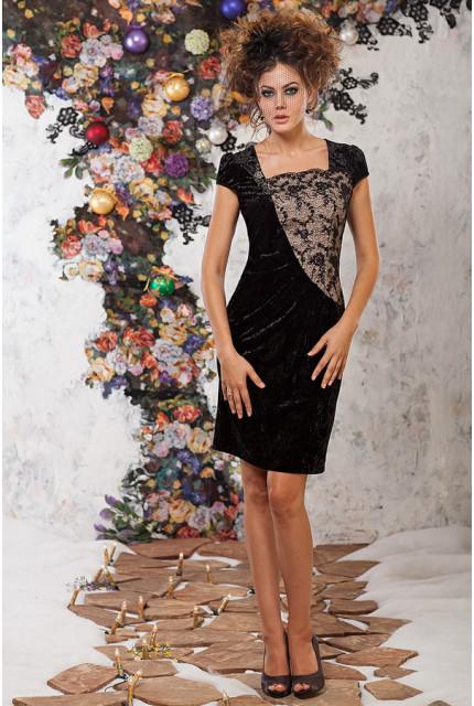 Платье Art Ribbon M1071-black