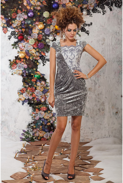 Платье Art Ribbon M1071-grey