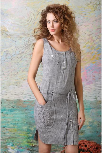 Платье Art Ribbon M1096P1001-grey