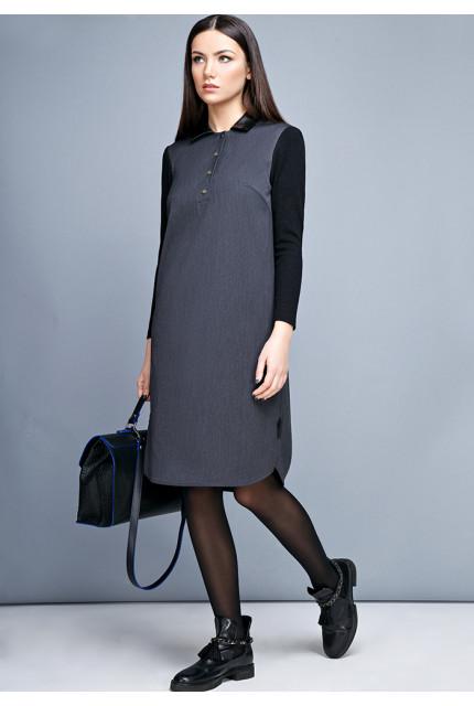 Платье LaVela L1484-серый