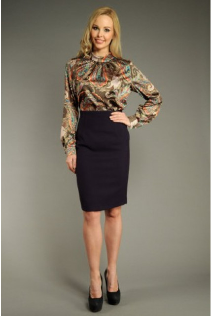 Блуза Stella Di Mare 100-13-korichnevyy