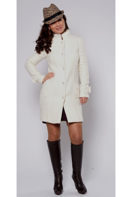 Пальто Stella Di Mare 70331-white