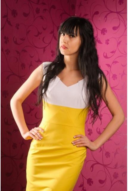 Платье Stella Di Mare 833-zheltyy