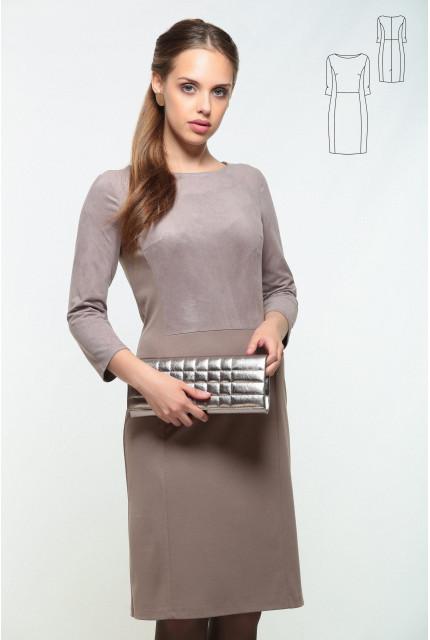 Платье Bravissimo 162536-кофейный