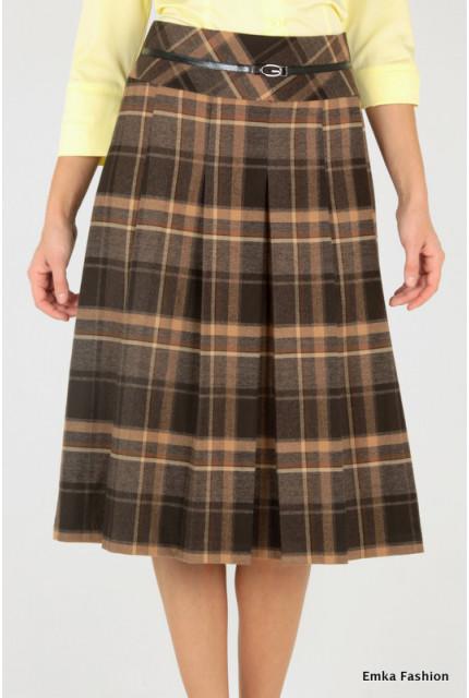 Юбка Emka Fashion 219-70-maroon