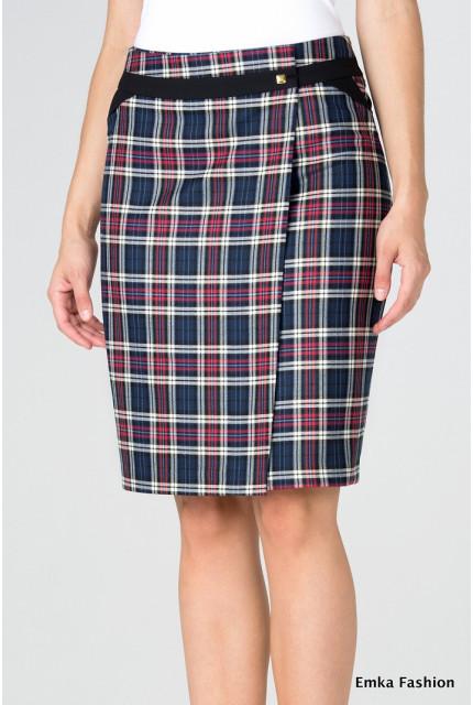 Юбка Emka Fashion 445-brauna