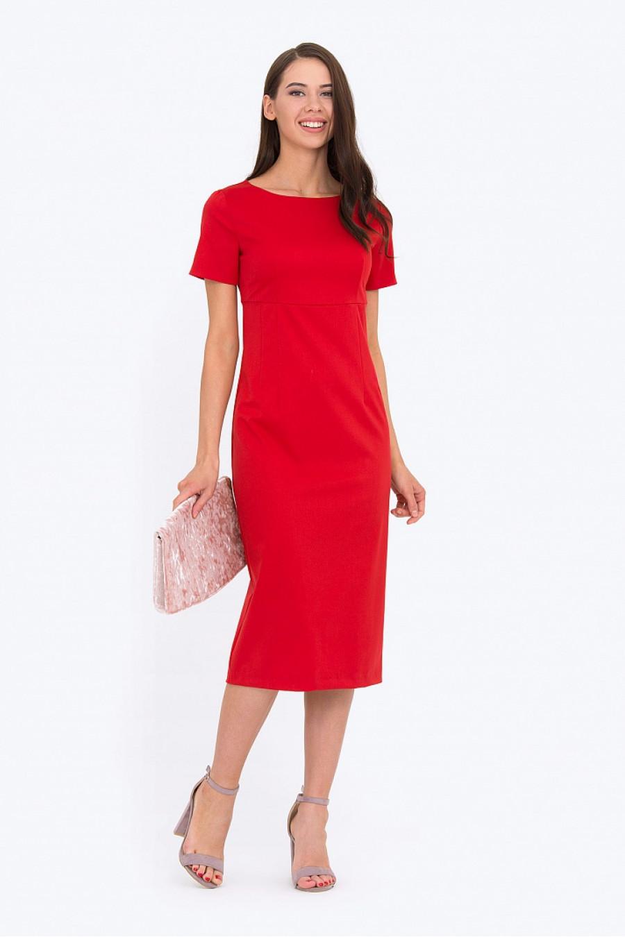 Платья из красной ткани