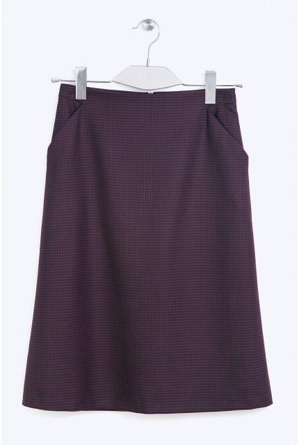 Юбка Emka Fashion S720-wineberry