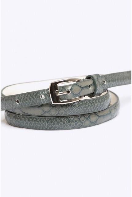 Ремень Emka Fashion серый змейка