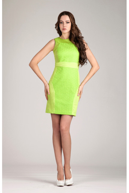 Платье O. JEN 01391-salat