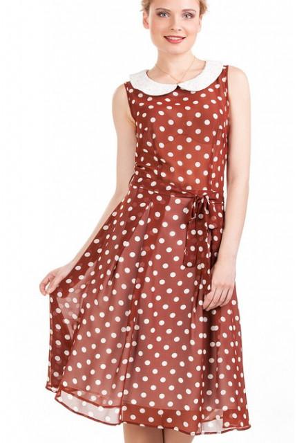 Платья в горошек в стиле ретро - незаменимое платье в гардеробе любой модницы. . Платья в горошек были популярными