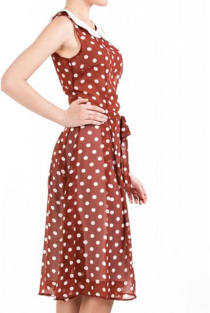 Красное платье в горошек которое можно купить на сайте labol.ru