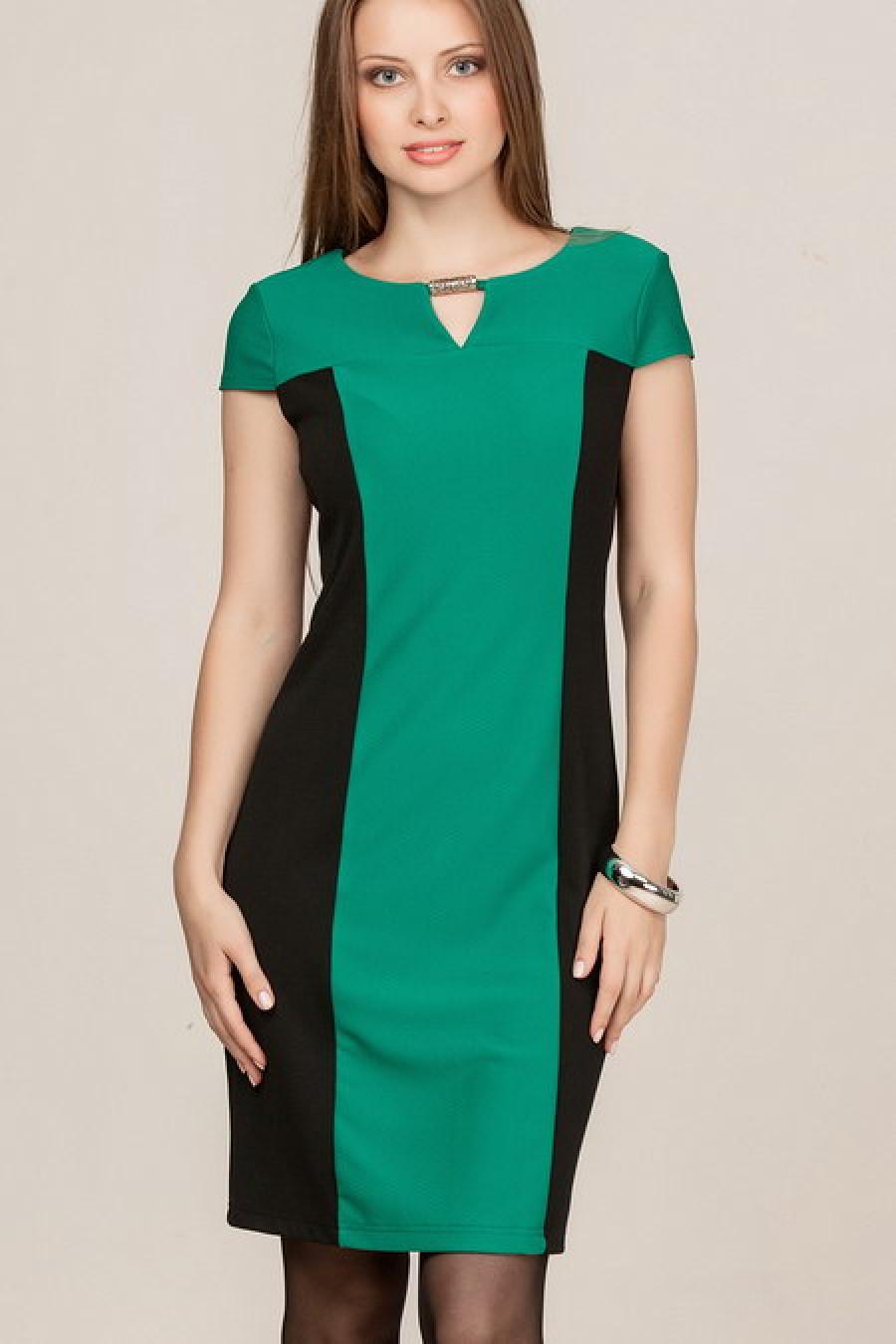 Комбинированные платья фото из двух цветов для полных